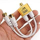 ホーリック アンテナ分波器 4K8K放送(3224MHz)/BS/CS/地デジ/CATV 対応 極細ケーブル一体型 10cm ホワイト ネジ式コネクタ AE-323SW