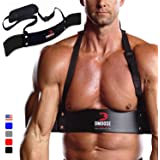 DMoose Fitness Arm Curl Blaster for Bicep Body Building and Muscle Strength Gains, Contoured and Adjustable Bicep Isolator fo