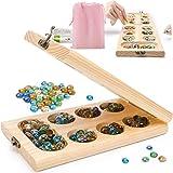 Jiudam ボードゲーム Mancala 木製 知育玩具 子供 おもちゃ 男の子 女の子 誕生日のプレゼント親子 家族 クラシックゲーム マンカラ