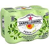 Sanpellegrino Pesca+tea Organic Sparkling Peach Tea Cans, 250ml (Pack of 6)