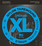 D'Addario ダダリオ ベース弦 ブラックナイロンワウンド Medium .050-.105 ETB92M 【国内正規品】