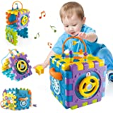 Activity Cube Toys for Toddlers 12-18 Months,Babies Toys for 1 Year Old Play Center, 6-in-1 Early Educational Musical Toys Ba