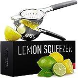 Ultimate Manual Lemon Squeezer - Pro-Grade, Stainless Steel Ergonomic Design, Non-Slip Grips - Effortless Lemon, Lime, Orange
