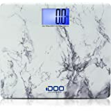 iDOO Precision Ultra Wide Oversized Digital Bathroom Weight Scale Heavy Duty Big Platform with Extra Large Backlit LCD Displa