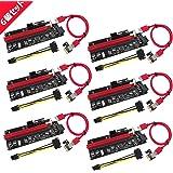 N.ORANIE USB 3.0 PCI-E Express PCI-E 1X to 16X ライザー エクステンダーカード USB 3.0 PCI-E Express 拡張子ケーブル ビットコイン採掘 マイニング 4pin 6Pin PCI-E 6