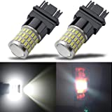 iBrightstar Newest 9-30V Super Bright Low Power 3156 3157 3057 4157 LED Bulbs with Projector Replacement for Back Up Reverse