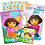 Dora the Explorer Activity Pack ~ Coloring Book, Board Book, and Stickers!