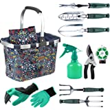 INNO STAGE Garden Tools Set with 11 Pieces Hand Tools for Women, Garden Tools Bag with Heavy Duty Tools, Garden Tool Organize