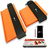 "Contour Gauge With lock- 2 Wide Contour Gauge Duplicators Set- 10"" And 5"" Contour Duplication Gauges - A Carpenter Pencil and"