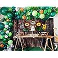 131 Pcs Jungle Theme Decoration for Birthday Party | Safari Theme Baloon Decoration | Birthday Balloons Garland Kit | ZINGOOR