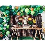 120 Pcs Jungle Theme Decoration for Birthday Party | Safari Theme Baloon Decoration | Birthday Balloons Garland Kit | ZINGOOR