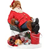 Department 56 Possible Dreams Santa Sports and Leisure Catching Z's Figurine, 9 Inch, Multicolor