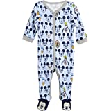 Disney Baby Boys' Sleep N' Play Footed Coveralls - Mickey & Friends, Lion King, Pooh Bear (Newborn/Infant)