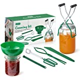 AIEVE Canning Kit Canning Supplies Include Plastic Canning Funnel, Jar Lifter, Jar Wrench, Lid Lifter, Tongs, Bubble Popper/B