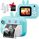 Instant Camera for Kids Digital Camera for Girls Toddler Camera with Print Paper, 40MP Kids Video Camera Child Selfie Camera
