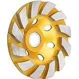 "Sunjoyco 4"" Diamond Cup Grinding Wheel, 12-Segment Heavy Duty Turbo Row Concrete Grinding Wheel Disc for Angle Grinder, for G"
