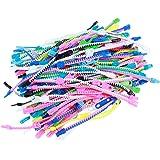 BESPORTBLE 50pcs Fidget Toys Friendship Zipper Bracelets Party Favors for Kids Sensory Bulk Set Neon Colors Kit for Goodie Ba