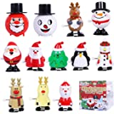 Max Fun 12 Pack Christmas Wind Up Toy Assortment for Christmas Party Favors Goody Bag Filler (Christmas Wind up Toys 2)