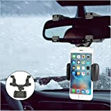 Car Phone Holder, Youtato Car Rearview Mirror Mount Holder 360° Rotation Adjustable Car Phone Mount for iPhone, Samsung Galax