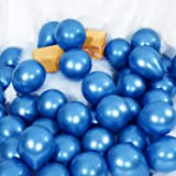 100 Pieces 5 Inch Metallic Balloons Decorative Latex Balloons for Birthday Wedding Engagement Festival Party Decorations (Blu
