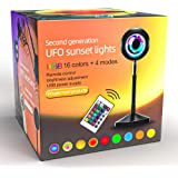 Sunset Lamp | Sunset Projection Lamp | Sunset Light Projector with 24Keys Remote Multiple Colors | RGB LED Night Light for Ki