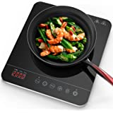 Aobosi induction Hob, Induction Cooker Portable 2000W, Ceramic Glass Plate with LED Display Electric Hob Portable, Sensor Tou