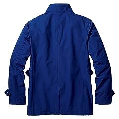 Stand Collar Short Coat 019712: Sapphire