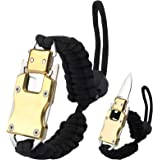 WEREWOLVES Adjustable Paracord Knife Bracelet, Survival Cord Bracelet with Knife, Tactical EDC Paracord Bracelet for Outdoor