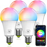 HaoDeng WiFi LED Smart Bulb - Dimmable, Multicolor, Tunable White (Color Changing Disco Ball Lamp) - 9W A19 E27(80W Equivalen