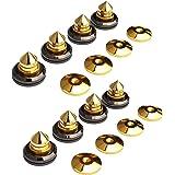 スピーカー インシュレーター いんしゅれーたー スピーカー 金属 製 金メッキ インシュレーター 8個セット