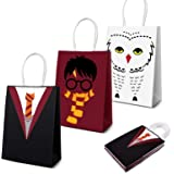 Potter Gift Bags Magical Wizard School Favors Bags for Children Birthday Party Supplies, Dress Up Novelty Decorations Set of