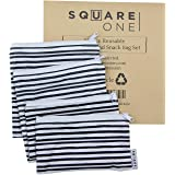 Square One Reusable Bags (Gray, Set of 4, Sandwich & Snack Sizes)