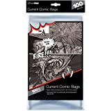 """Ultra PRO Current Size 6-7/8 x 10-1/2"""" Comic Bags (100 Count Pack), Small, Clear"""