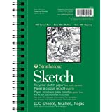 """Strathmore 457-5 400 Series Recycled Sketch Pad, 5.5""""x8.5"""" Wire Bound, 100 Sheets"""