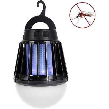 電撃殺虫器 UV紫光誘引式 静で安心 蚊取りと照明両用 2000mAH容量 USB充電可能 IPX6防水機能