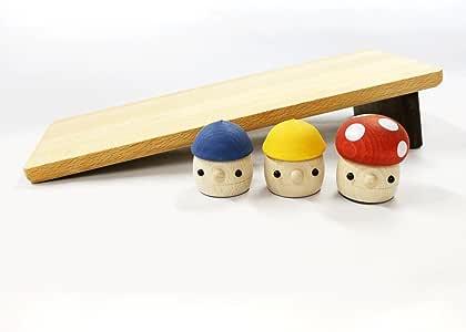 おもちゃのこまーむ どんぐりの坂(大)セット(どんぐりころころ2、どんぐりきのこ1、どんぐりの坂大1)【木製玩具】/日本製