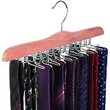 TOPIA HANGER High-Grade American Red Cedar Wood Functional Hangers (Tie)