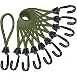 Odowalker ストレッチコード 張綱ストレッチコード バンジーコード テント・タープ部品 ツインフック10本 セット キャンプ アウトドア用 6mmx16cm