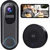 WiFi Video Doorbell Camera, Morecam Wireless Camera Doorbell with Chime,1080P HD, Motion Detection, Night Vision, 2-Way Audio