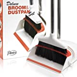 Primica Broom and Dustpan Set - Self-Cleaning Broom Bristles - Ideal Kitchen, Home and Lobby Broom and Dustpan Combo - Premiu