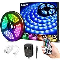 Lepro LEDテープライト 防水 RGB テープライト 5m 屋内屋外兼用 SMD5050 ledテープ DIY マ…