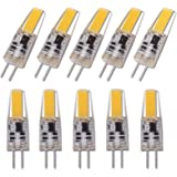 10 pcs Dimmable Mini G4 LED COB Lamp 3W Bulb AC DC 12V Candle Silicone Lights Replace 30W Halogen for Chandelier Spotlight,Wa