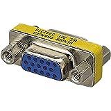 エレコム 小型アダプタ D-Sub15ピン(ミニ)メス - D-Sub15ピン(ミニ)メス AD-HD15F