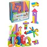 ソフトブロック ソフトつみき ノーマルセット カラフル 60ピース入り 収納袋付き 積み木 つみき EVA素材 軽い 柔らかい ブロック おもちゃ ソフト 知育玩具 想像力 発想力 子供 ギフト プレゼント 出産祝い