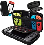 Nintendo Switch Case,HONGYAN Portable Waterproof Travel Carrying Pouch with Protective Hard Shell andLarger Storage...