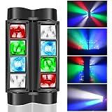 BETOPPER ステージライト 舞台照明 スパイダー ムービングヘッドライト RGBW 8x3W DMX512 3/17CH Spider ムービングライト ステージ照明 LED 回転 音声起動 ディスコライト ストロボ効果 演出照明 照明/演出/
