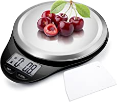Digital Kitchen Food Scale, CAMRY Multifunction Scale with LCD Display for Home Baking Diet Cooking, 11lb 5kg Capacity...