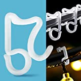Holiday Light Clips Christmas Light Clips Outdoor Hang Gutter Hooks for Christmas Decoration String Lights Weatherproof Outdo
