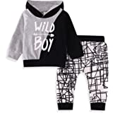 Baby Clothes Boy T-Shirt Wild One Short Sleeve + Bear Print Pants Toddler Infant Summer Outfit Set