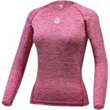 ARMEDES Women's Quest Performance Base Layer Long Sleeve Crew Neck/Mock Yoga Top AR-241/251
